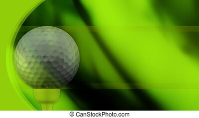 Golf Background in Green Loop - Looping Golf Animated...