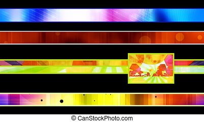 Four abstract Looping Lower Thirds - Four abstract Looping...