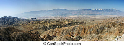 Coachella Valley - Panorama of Coachella Valley, California,...
