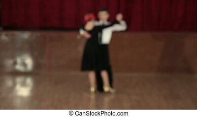 little dancers tango - boy and girl of 9 years dancing the...