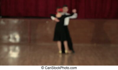 Couple Tango Dancing - boy and girl of 9 years dancing the...