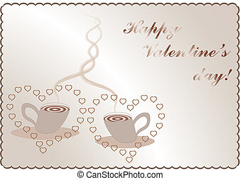 valentines background with coffee