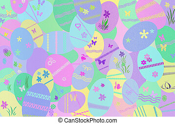 Easter Collection - Pastel Easter egg background.