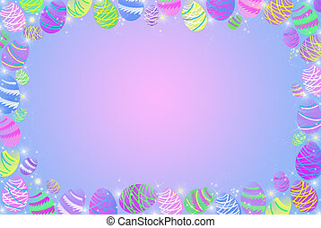 Easter Egg Border - Easter egg border on a gradient...