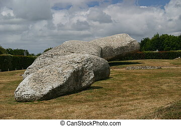 Grand Menhir Bris - The biggest known Menhir, located in...