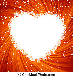 Fire heart frame. EPS 8