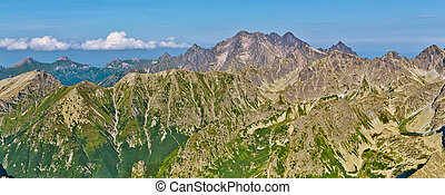 Moutains - Panorama of mountain chain in Europe