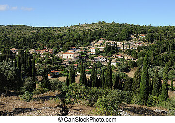 mountain village - Panoramic view of the traditional...