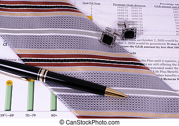 Financial Professional Accessories - A pen, tie, and...
