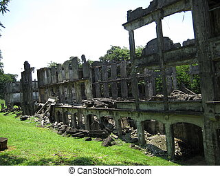 Ruins of a Military Barracks in Corregidor