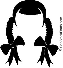 Hair Icon Vector - Vector illustration of a woman