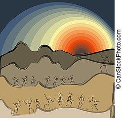 landscape, vector illustration