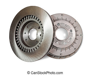 Car brake wheel Isolated on white with clipping path