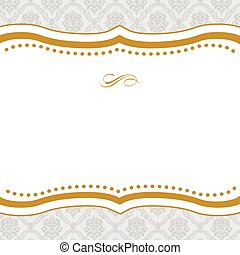 Vector Cut Gold Frame - Vector ornate frame Easy to edit...