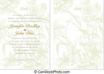 Vector Ornate Floral Background and Frame