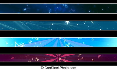 Stars Lower Thirds  - Looping Star Theme Lower Thirds