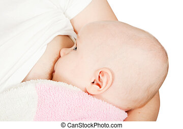 Little baby breast feeding
