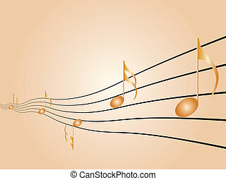 Sheet music - Music symbols, signs and notes to represent...
