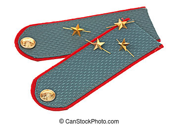 New epaulets are isolated on a white background
