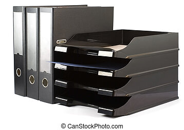 Folders and paper-cases - Black folders and paper-cases...