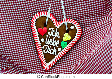 Oktoberfest Gingerbread Heart - gingerbread Oktoberfest...