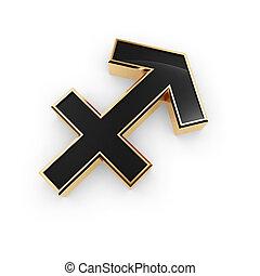 signos, Símbolo,  saggitarius, ícone