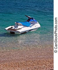 Watercraft - Personal watercraft in the water .