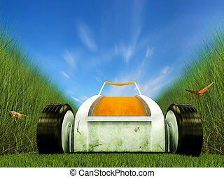 Fast moving lawn mower on grass track - Fast moving lawn...