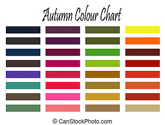 Autumn colour chart