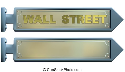 street signs - Vector street signs and wall street text....