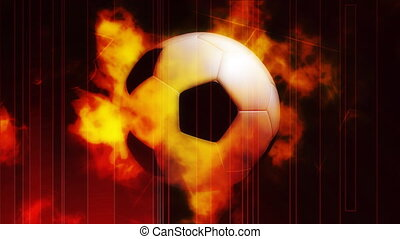 Burning Soccer Sports Loop - Looping Soccer Burn Animated...