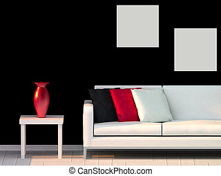 modern room, living room