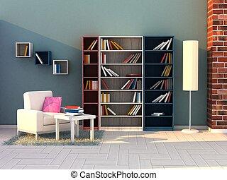 study room, modern room