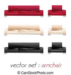 armchair, sofa set