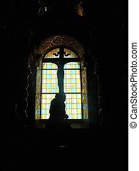 Window in the church.