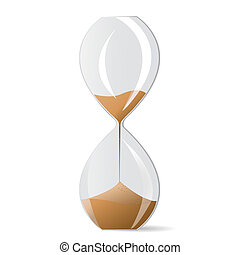 Hourglass isolated over white background, no transparencies