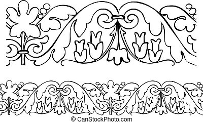 Victorian style outlined border
