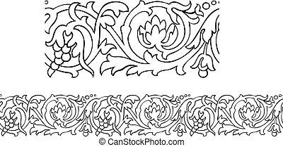 Victorian style repeating border - Vector of a stylized...