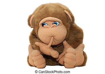 One of my favourite toys, big monkey sucking fingers