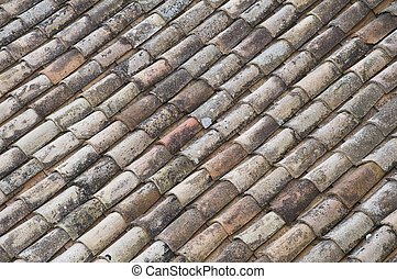 Tile roof background