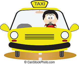 Taxi Driver Vector illustration for you design