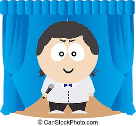 Show Host. Vector illustration for you design