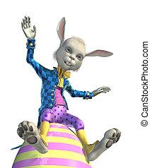 Easter Bunny Having Fun