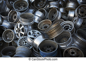 coche, Rims, listo, reciclaje