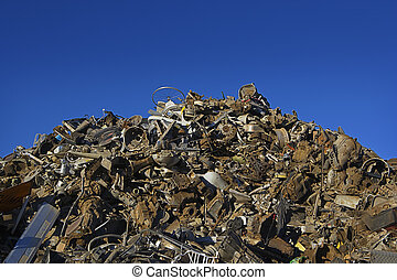 Sorted Pile of Scrap Metal - A large, sorted pile of scrap...