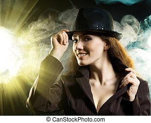 girl in the smoke