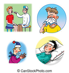 Raster illustrations about healthca - Some Raster...