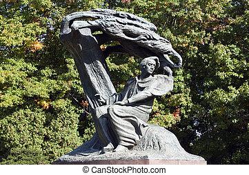 Frederic Chopin. - Monument, Frederic Chopin seeking...
