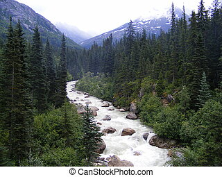 River in the Mountains - A river flowing in mountains...
