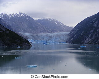 Glacier in Alaska - A view of a Glacier in Alaska